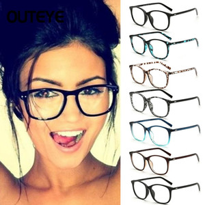 Wholesale clear frames glasses resale online - Women Transparent Computer Glasses Clear Eyeglasses Fashion Fake Optical Eye Glasses Frames Myopia Glass Spectacles Eyewear