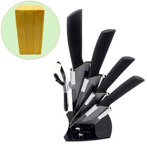3 4 5 6in Black Edge Ceramic Knife Set Black Handle Paring Fruit Meat Utility Chef Home Kitchen Knives