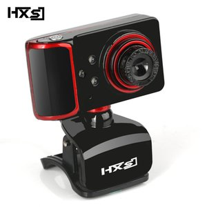 Wholesale HXSJ P Computer Camera Rotation Adjust HD Network Camera Clamp Type LED Web with Microphone for Android TV PC