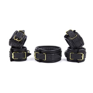 Wholesale Sexy Adjustable PU Leather Slave Fetish BDSM Adult Bondage Hancuff Ankle Cuff Restraints Sex Toys For Couple Exotic Accessories
