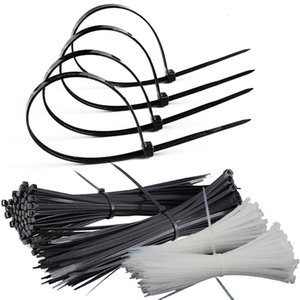 Factory direct black nylon cable tie 4*200 plastic environmental protection bundled self-locking nylon cable tie wholesale on Sale