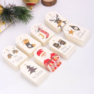 DIY Kraft Tags Merry Christmas Labels Gift Wrapping Paper Hang Tags Santa Claus Paper Cards Christmas Party Supplies