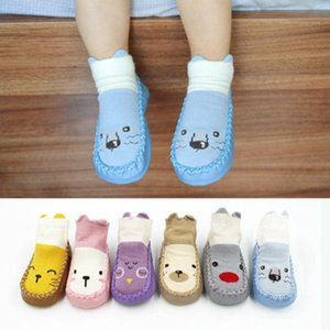 Wholesale Baby Cotton Cartoon Socks Kid Toddler Anti-slip Sock Shoes Boot Floor Slippers 2019 New Arrival Kawaii Animal print soft sole