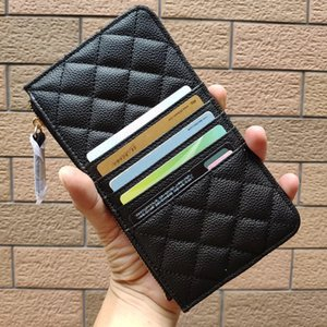 Wholesale NEW Fashion hand take purse phone card package C Wallets Metal letter Card Holder for ladies collect luxury design items vip gift