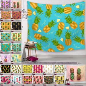 Wholesale Pineapple Series Wall Tapestries Digital Printed Pineapple Beach Towels Bath Towel Home Decor Tablecloth Outdoor Pads cm