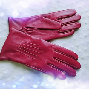 Wholesale High quality Fashion woman real leather glove Five Piping sheepskin leather glove Wholesales