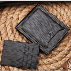 Wholesale Fashion Men Leather Cross Design Quality Wallet Business Card Holder For Men Vintage Bifold Wallet Male Purse Small Money Bag
