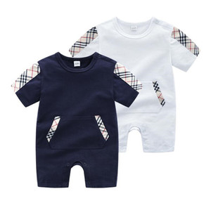 Wholesale Baby Luxury Designer Jumpsuits Bag Printed Newborn Clothes Toddlers Fashion Rompers Kids Short Sleeeve Baby Rompers