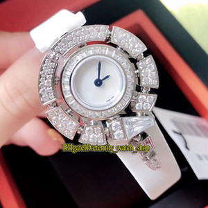 Wholesale 5 Color Serpenti Jewellery Watches SPW30D2GD2L White Dial Swiss Quartz Womens Watch Diamonds Bezel White Leather Strap Lady Watches