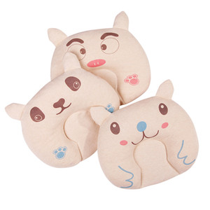 Cute Baby Bedding Pillows Cotton Cartoon Bear Styles Pillow Prevent Flat Head Support Anti-migraine Baby Pillow for Newborn