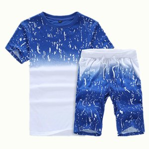 Wholesale On Sale 2019 Summer New Pattern Short Sleeve Male T Pity Pants Twinset Student Man Leisure Time Motion Suit Mens Tracksuits Shirts