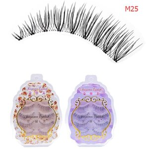 Wholesale MIX sets pairs set false eyelashes handmade fake cilia natural long cirsscross mink lashes extension Korean Japanese makeup