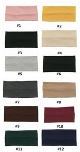 New INS yoga headband Cotton absorbent elastic headwear Outdoor exercise headwrap Wide Head bands multi colors Sweat Head wrap