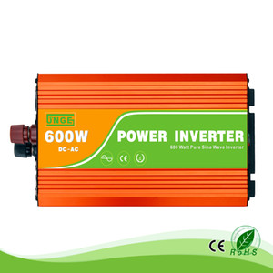 Wholesale pure sine wave inverter 12 resale online - 600W V to VAC Hz residential home high frequency use pure sine wave off grid inverter