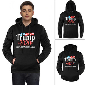 Wholesale Men Women Donald Trump Hoodie Unisex Hooded Sweatshirts M XL Pullover Make America Great Again Home Clothing AAA1513