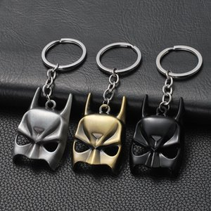 Wholesale Best selling movie around Batman Mask Keychain Zinc Alloy Keychain Pendant