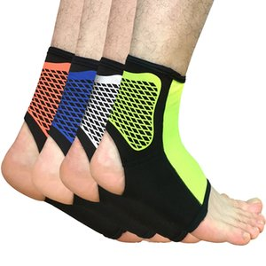 Wholesale 2PCS Breathable Ankle Support Adjustable Sports Elastic Ankle Support Brace Pad Foot Protection Football Basketball