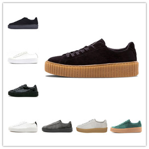 Wholesale New Rihanna Fenty Creeper PM Classic Basket Platform Casual Shoes Velvet Cracked Leather Suede Men Women Fashion mens Designer Sneakers