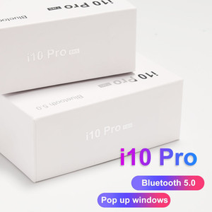 Wholesale i10 Pro Bluetooth Earphone Tws Earbuds For iPhone Android Wireless Headset Headphones BT5 with Charging Box Support Wireless Charging I12