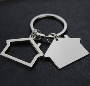 Creative House Shaped Keychains Metal Keyrings Key Holder house Design car Key Chain Key Pendant KKA7540