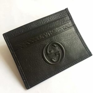 Wholesale Designs Genuine Leather Bank Card Case Thin Mini Card Wallet Men Business ID Credit Card Holder Cards Pack Cash Coin Pocke