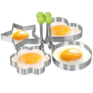 Wholesale High quality Lovely Set Fried Egg Pancake Mold Kitchen Stainless Steel Cooking Tools Love Shaped Cook Fried Egg Mold Promotion
