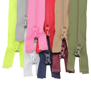 2pcs 50cm 3# High-grade Resin Zippers For Clothes Jacket Clothing Down Colorful Zipper For Sleeping Bag Zip Clothing Accessories C19041101