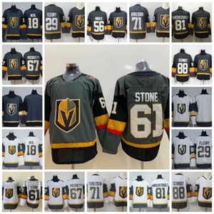 Wholesale 61 Mark Stone Jersey Vegas Golden Knights Max Pacioretty James Neal Marc Andre Fleury Erik Haula William Karlsson Grey White