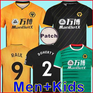 Wholesale 2019 2020 Wolves NEVES RAUL home Soccer Jerseys CUTRONE 19 20 Wolverhampton Wanderers football shirts DIOGO J. Men + Kids sets uniform youth