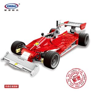 XINGBAO 03023 Genuine The Red Power Racing Car Set Self-Locking Building Blocks Bricks Educational Toy Christmas Gifts for Kids on Sale