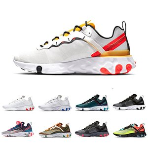 Wholesale 2019 Tour Yellow react element mens running shoes men women Orange Peel Sail triple black white Taped Seams trainers sports sneakers