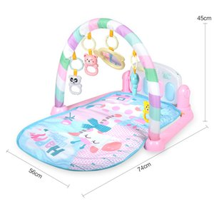 Wholesale Baby Play Mat Fitness Bodybuilding Frame Pedal Piano Music Carpet Blanket Kick Play Lay Sit Toy