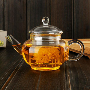 New 250ml High Quality Heat-resistant borosilicate glass Teapot inner filter tea kettle Kung Fu tea Coffee Pot Wholesale