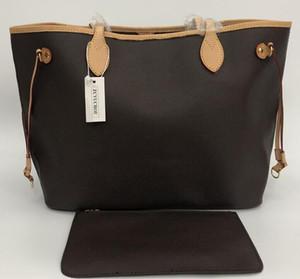 high qulity classic Designer womens handbags flower composite tote PU leather clutch shoulder bags female purse with wallet 2pcs set 40156