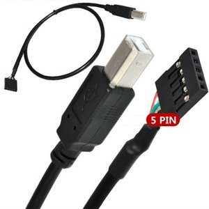 Wholesale 50cm Motherboard jumper wire Pin Female Header to USB Type B Male For Printer Scanner Extension Cable