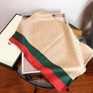 Wholesale Red green stripes silk scarfs retro g letters styles desinger brands scaves for men and ladies for best Christmas gift Autumn winter scarf