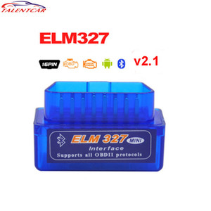 Wholesale elm327 adapter resale online - Mini V ELM327 OBD2 Bluetooth Adapter ULME V2 V1 OBD2 OBDII Scanner Diagnosescan werkzeug Auto Code Reader OBDII ELM327