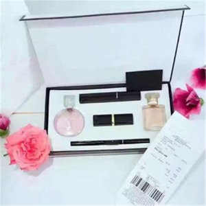 Wholesale New discount makeup set Collection Perfume lipstick eyebrow pencil mascara in cosmetic kit with Gift Box