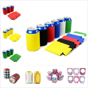 Wholesale 29 styles environment beer can holders colorful stubby holders neoprene feeder cup cooler bags for wind food cans cover kitchen tools