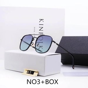 Designer Sunglasses Luxury Sunglasses Metal Man Mens Adumbral Glasses UV400 with Box High Quality Style P41 5 Colors New Hot Tops Models