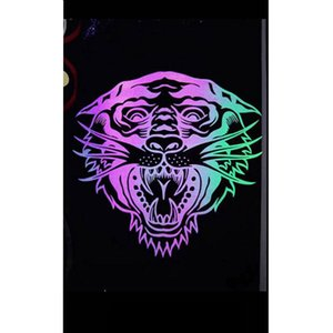 Wholesale 1 sheet PU Reflective rainbow Heat Transfer Vinyl Heat Press Machine T shirt Iron On HTV Printing