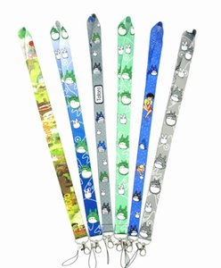 Wholesale DHL My Neighbor Totoro cartoon Tag Strap Neck Lanyards for keys ID Card Pass Gym Phone USB badge holder DIY Hang Rope