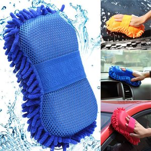 Wholesale window washers resale online - Car Cleaning Brush Cleaner Tools Microfiber Super Clean Car Windows Cleaning Sponge Product Cloth Towel Wash Gloves Auto Washer