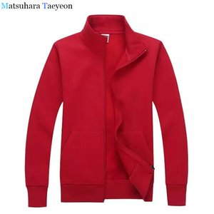 Matsuhara Taeyeon Brand Solid Zipper Tracksuits Fashion Sweatshirts Men High Quality Male Man Coat Cardigan hoodie Casual on Sale