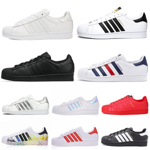 Wholesale 2020 New superstars casual shoes Plate forme men women Chaussures Triple White Black s Pride Star Flats designer sneakers