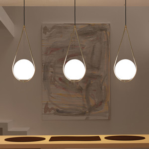 Wholesale modern round pendant lights resale online - Nordic Glass Ball Pendant Light Modern Round Global Hanging Light pendant lamp Decorative Pendant Lighting Fixture