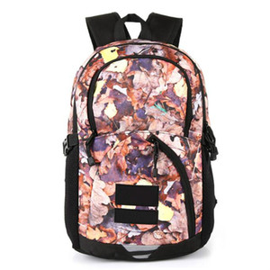 Wholesale 2019 Metal color backpack joint name snow mountain map deciduous backpack bag sports travel bag ins waterproof bags waist bag