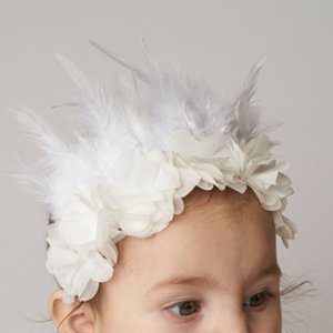 Wholesale Pretty Infant Girl feather flower Headbands baby Newborn cute hair band Children Hair Accessories Kids Toddler Hair Feathers C6131