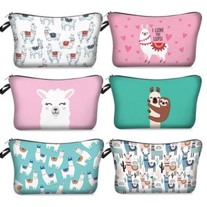 Wholesale 35 Styles Women Makeup Bags D Letter Printing Zipper Cosmetic Bag With Cute Animals Cosmetics Pouchs Coin Purse Organizer