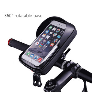ingrosso supporto universale impermeabile telefono bicicletta-Universale impermeabile da pollici da pollici davanti per bicicletta Bicycle Bicycle Bicycle Mobile Phone Supporto per moto Manubrio Borsa per moto Bike Pocket